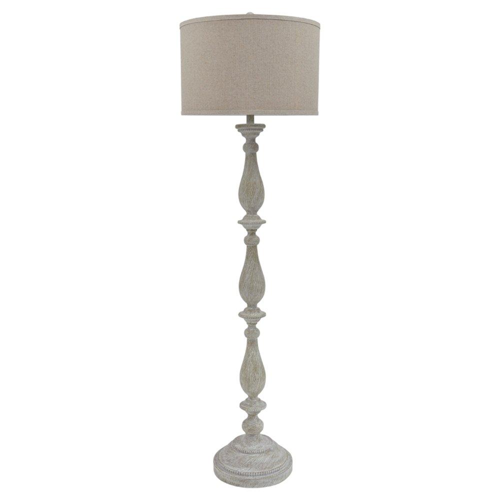 Ashley Furniture Signature Design - Bernadate Floor Lamp - Vintage Style - Whitewash by Signature Design by Ashley