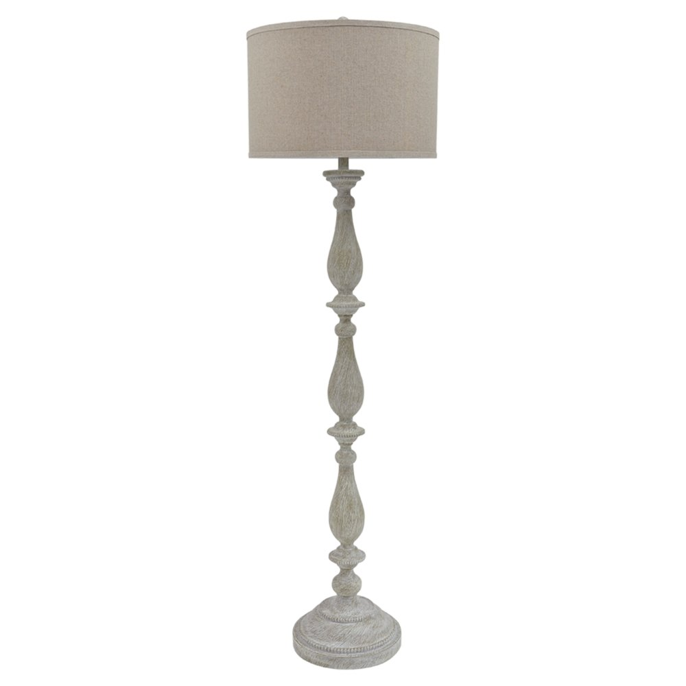 Ashley Furniture Signature Design - Bernadate Floor Lamp - Vintage Style - Whitewash