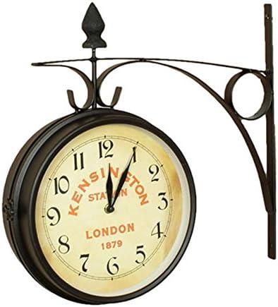 Nostalgic Kensington Station Clock Large Double Sided W Wall Bracket Xh02000 Home Garden Improvement Home Kitchen Amazon Com