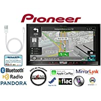 Pioneer AVIC-8200NEX In Dash Double Din 7 DVD CD Navigation Receiver and a Lightening to USB Adapter with a FREE SOTS Air Freshener