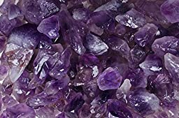Fantasia Materials: 1 lb Amethyst High Grade Rough from Brazil - (Select from 3 Grades) - \'AA\' Grade Semi Point - Raw Natural Crystals for Cabbing, Cutting, Tumbling, Polishing, Wire Wrapping, Reiki