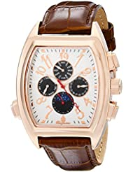 Burgmeister Mens BM131-385 Analog Display Automatic Self Wind Brown Watch
