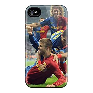 STCentralRoom Iphone 4/4s Well-designed Hard Case Cover The Defender Of Barcelona Gerard Pique Scored A Goal Protector