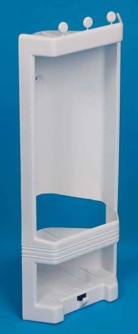 White Plastic Corner Shower Caddy / Shelf. Brand New: Amazon.co.uk ...