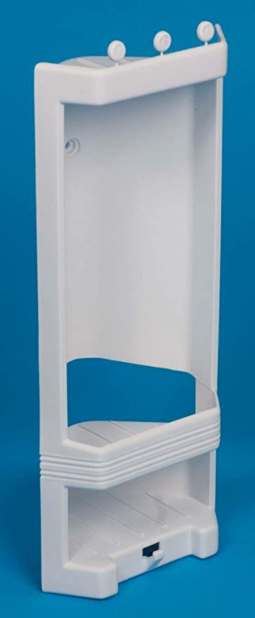 White Plastic Corner Shower Caddy / Shelf. Brand New: Amazon.co.uk ...