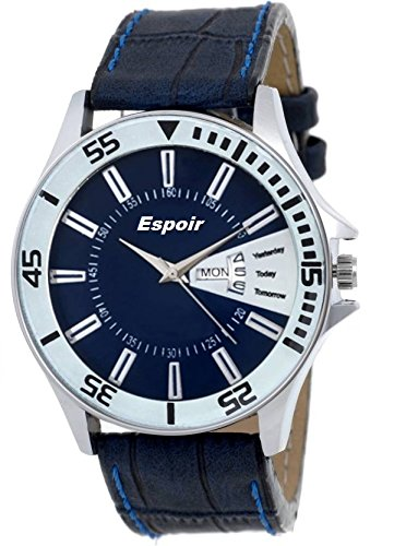 Espoir Analogue Blue Dial Men's Watch - Round0507