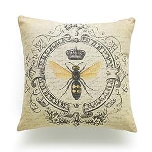 Amazon Com Hofdeco Decorative Throw Pillow Cover Heavy
