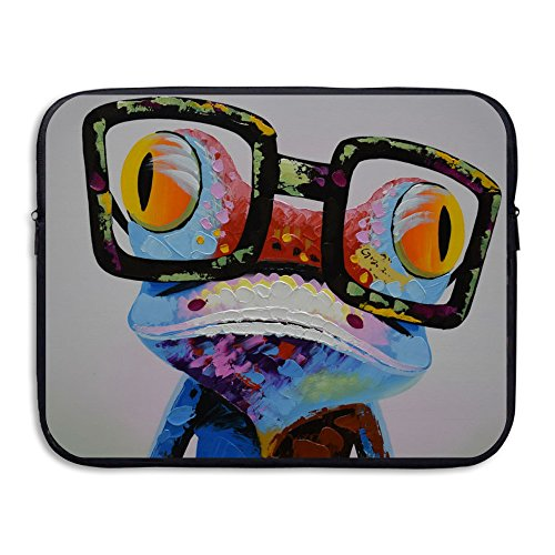 Microsoft Laptop Roller (Frog With Glasses Briefcase Handbag Case Cover For 13-15 Inch Laptop, Notebook, MacBook Air/Pro)