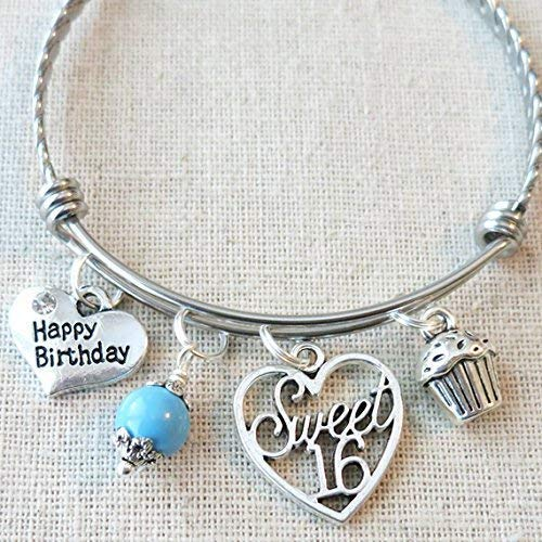 Amazon Happy Birthday Sweet 16 Bangle 16th BIRTHDAY Gift