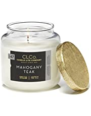 CLCo. by Candle-Lite Company Scented Mahogany Teak Single-Wick Jar, 14 oz, Off White