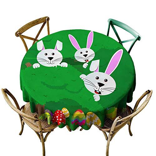 SKDSArts Round Tablecloth Cotton Easter Egg Hunt Invitation D36,for Kitchen]()