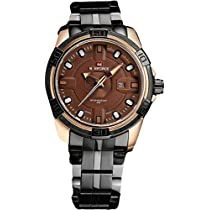 Naviforce Charming Golden Brown Luxury Men's Watch(NF9079)