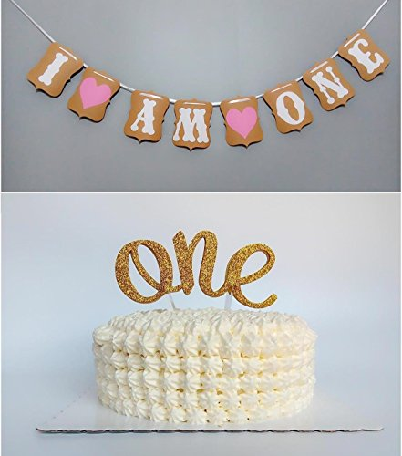 Sweet Heart First Birthday Cake Topper -