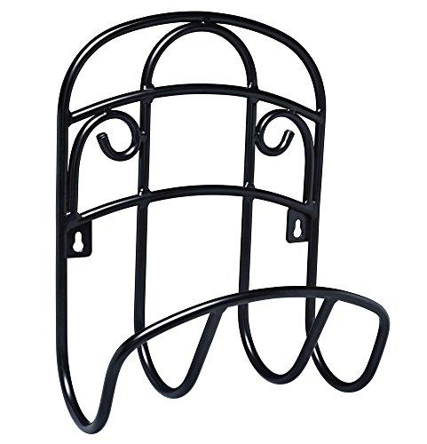 Liberty Garden 231 Wall Mount Decorative Wire Garden Butler Hose Hanger, Black ()