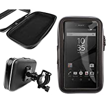 DURAGADGET Exclusive Water-Resistant & Shock-Absorbing Cyclists' Smartphone Case & Bike Handlebar Mount for the NEW Sony Xperia Z5 and Z5 Premium Smartphones