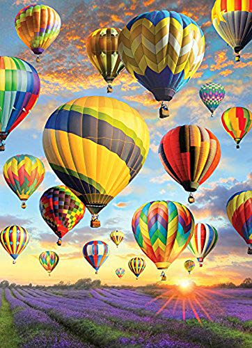 TINMI ARTS 5D DIY Diamond Painting Hot Air Balloon and Lavender Kits for Adults Cross Stitch Embroidery Kits Home Wall Sticker(16