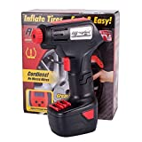 Tisnec Pro Air Compressor, Cordless Portable Compressor Electric Inflator Portable Hand Held Pump with Digital LCD