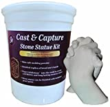 Grape Arts Memory Keepsake Hands Statue Kit Molding Powder and Casting Plaster