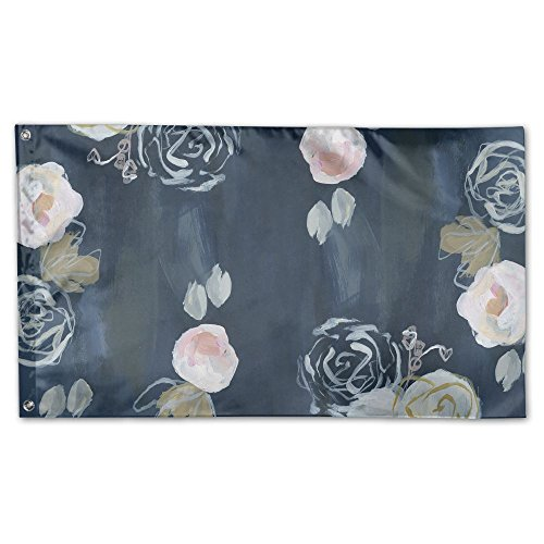 garden flag pastel roses blush