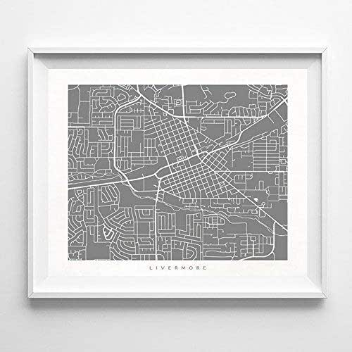 Home Decor Livermore: Amazon.com: Livermore California Street Road Map Poster