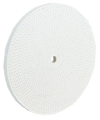 Woodstock D3184 6-Inch by 60 Ply by 5/8-Inch Hole Spiral Sewn Buffing Wheel