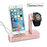 (Lightning Cable Included)Archeer 2 in 1 Apple Watch Stand iWatch iPhone Charging Dock Station Stand for iPhone 7/6/6s/6s plus/5s/5 and Apple Watch/Sport/Edition 38mm/42mm