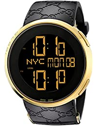 Swiss Quartz Gold-Tone and Rubber Dress Black Men's Watch(Model: YA114229)