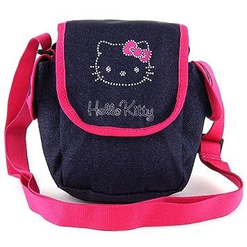 7e5575a42 Target Hello Kitty Jeans Umhängetasche Messenger Bag, 21 cm, Blue (Dunkel  Blau/Rosa): Amazon.co.uk: Luggage