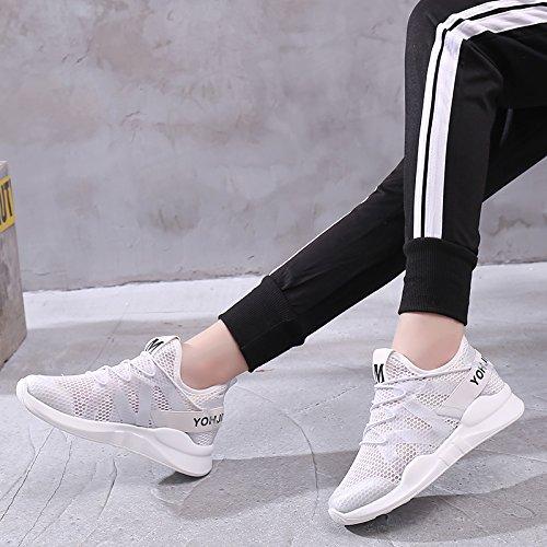 Malla De Ligeros Zapatos amp;G Zapatos Deportivos Transpirables Zapatos White Casuales Hueca NGRDX qfTw6BUw