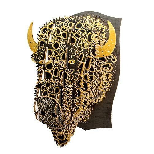 Cardboard Safari Leah Yellowbird Cardboard Animal Head (Large, Bison)