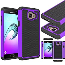 """Galaxy A5 2016 Case, Gefee® Full Body Hybrid Armor Protection Shockproof Defender Case Cover for Samsung Galaxy A5 (2016) 2nd Gen A510F 5.2"""" (Purple )"""