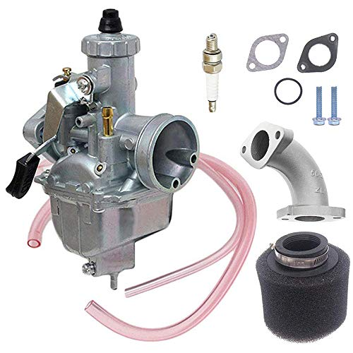VM22 26m Carburetor with Air Filter for Mikuni Intake Pipe Pit Dirt Bike Motorcycle 110cc 125cc 140cc Lifan YX Zongshen Pit Dirt Bike CRF70 XR50 KLX BBR Apollo carburetor niche cycle supply