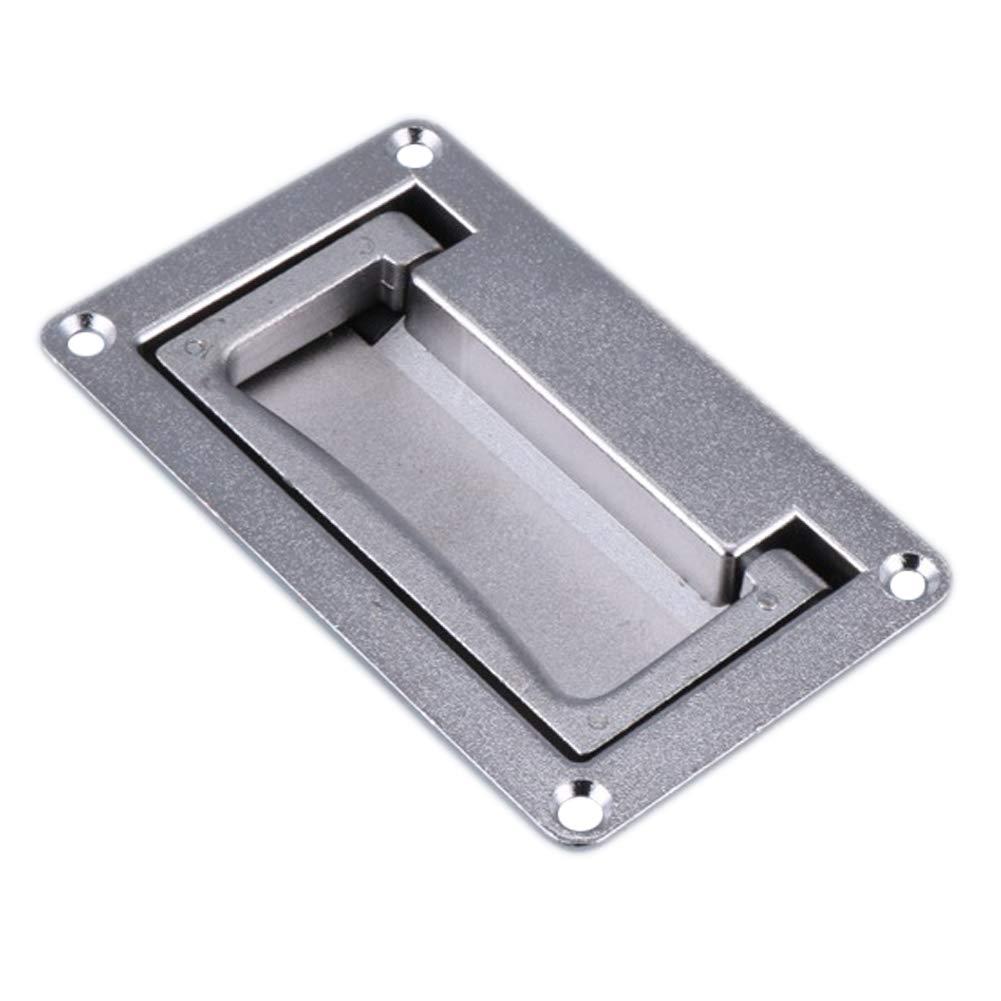 Delleu 1 Pieza Rect/ángulo de Metal en Forma de Caja de la Puerta del gabinete Empotrado Tiradores Plegables Empu/ñadura de Agarre