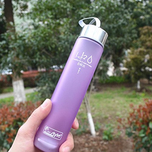 Gotd Best Sports Water Bottle - 280ml Small - Eco Friendly & BPA-Free Plastic - For Running, Gym, Yoga, Outdoors and Camping - Fast Water Flow - Reusable with Leak-proof Lid (Purple) (Sports Water Bottle Dozen compare prices)