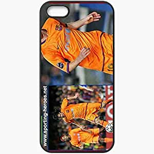 Personalized iPhone 5 5S Cell phone Case/Cover Skin A Football Black