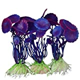 3 PCS Simulation Aquatic Plastic Plants Aquarium Ornament Decorations (Purple)