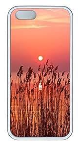 iPhone 5 5S Case Landscapes sunset sea TPU Custom iPhone 5 5S Case Cover White