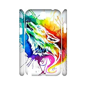 Personalized New Print Case for Samsung Galaxy Note 2 N7100 3D, Rainbow Wolf Phone Case - HL-R671952