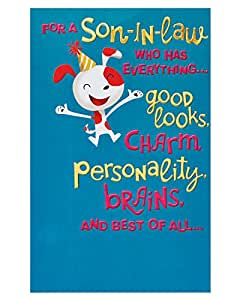 Amazon American Greetings Funny Birthday Card For Son In Law