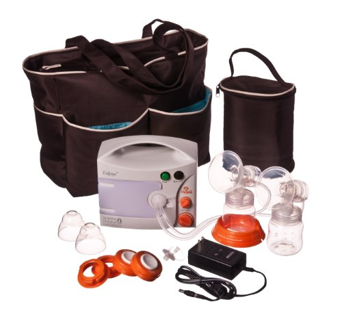 Hygeia Enjoye Eps Breast Pump With Personal Accessory Set And Brown Tote