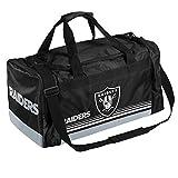 FOCO Oakland Raiders Medium Striped Core Duffle Bag