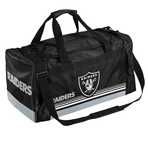 FOCO Oakland Raiders Medium Striped Core Duffle Bag by FOCO