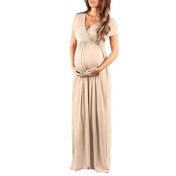 FRAUIT Vestiti Premaman Cerimonia Premaman Abbigliamento Foto Abito  Fotografica Manica Lunga Abito Allattamento Elegante Maternity Dress 7348b7e2714