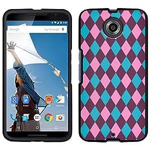 Nexus 6 Plaid Blue Pink Plum Case