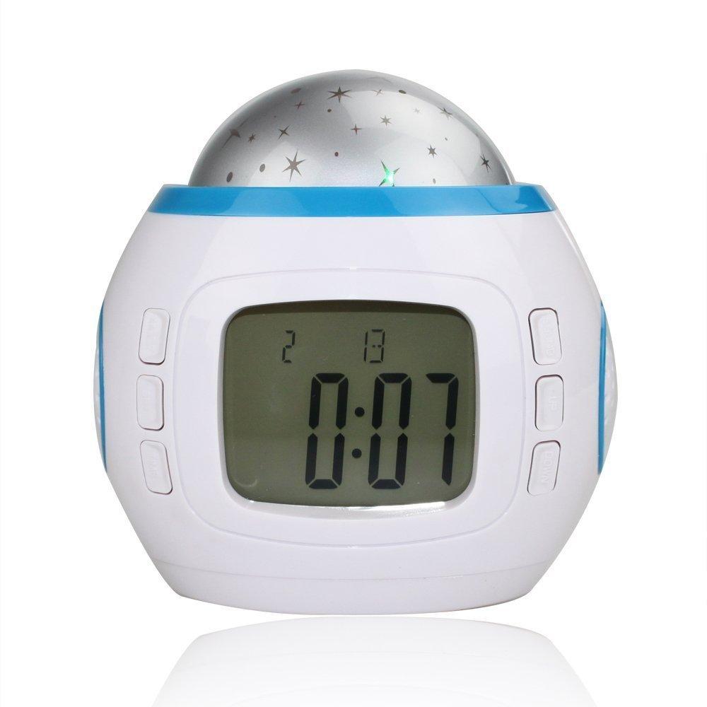 Eglemtek® TM - Reloj despertador digital con proyección de ...