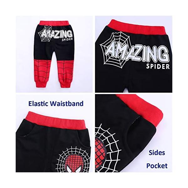 Set di Abbigliamento Bambini Completino Spiderman Maniche Lunghe Tute Ragazze Felpa con Cappuccio Camicie e Pantaloni… 6