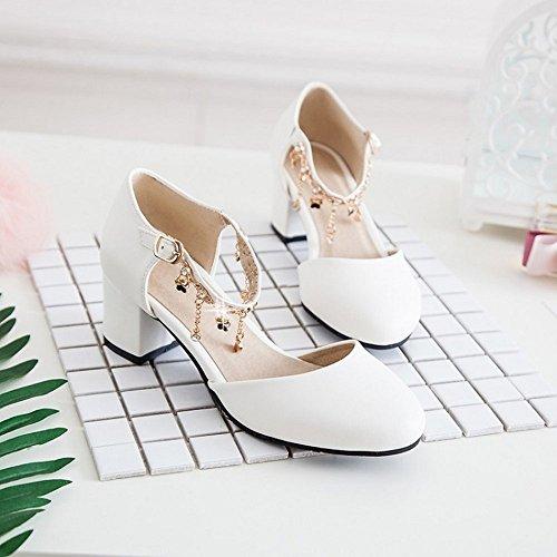 Sandalias Bajos Zapatos Verano Chanclas Señoras Peep LI Sandalias heelsWomen Zapatos Toe Alto BAJIAN 6qICU