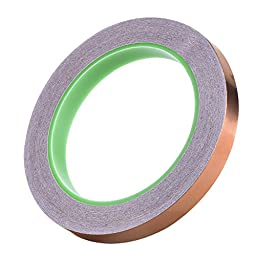 eBoot Copper Foil Tape with Double Conductive Adhesive 21.8 Yards for EMI Shielding, Craft, Electrical Repairs, 3 Pieces (5mm/ 6mm/ 12mm)