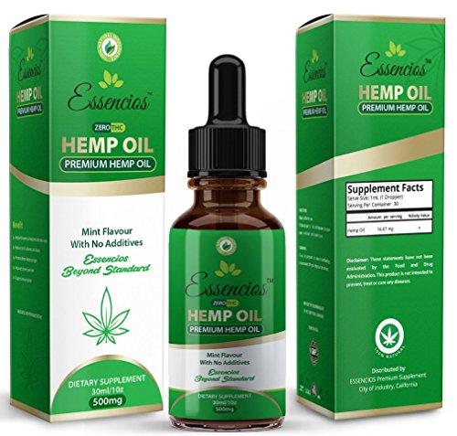 Hemp Oil for Pain Relief, 500mg Hemp Extract, A...