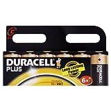 Duracell Plus MN1400 Alkaline C Batteries - 6-Pack